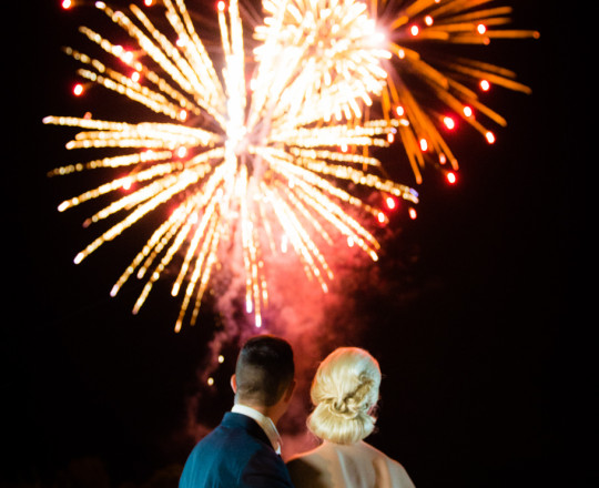 Wedding Fireworks to Music